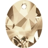 Swarovski Pendant 6911 Kaputt Oval 36mm Golden Shadow Crystal